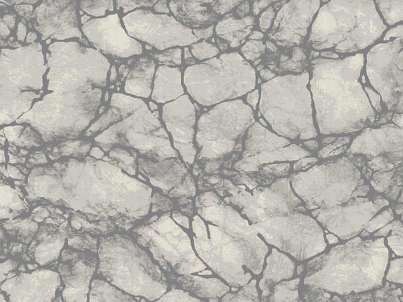Vloerkleed Contour grijs