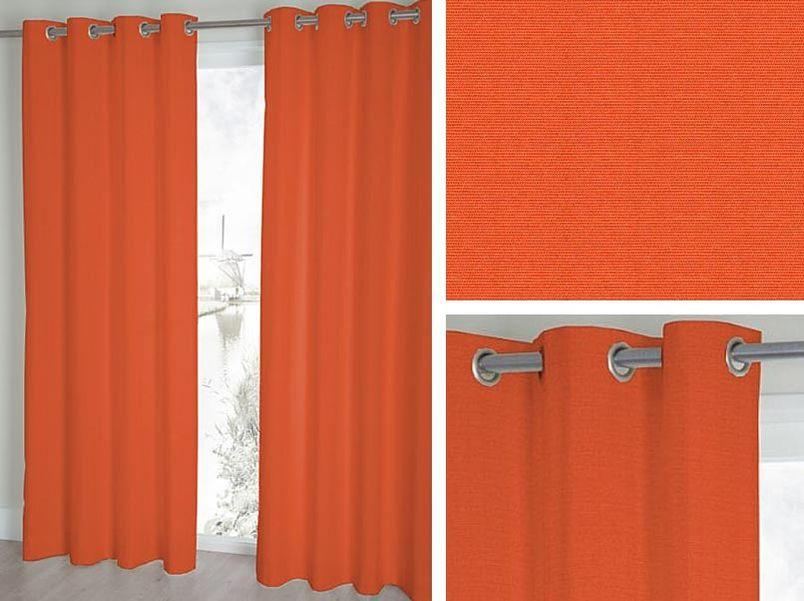 Gordijn Palette oranje