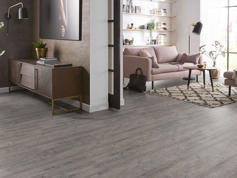PVC vloer Superior light grey pine