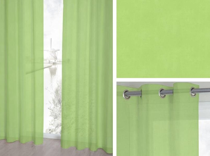 Vitrage Topcolor Voile lime