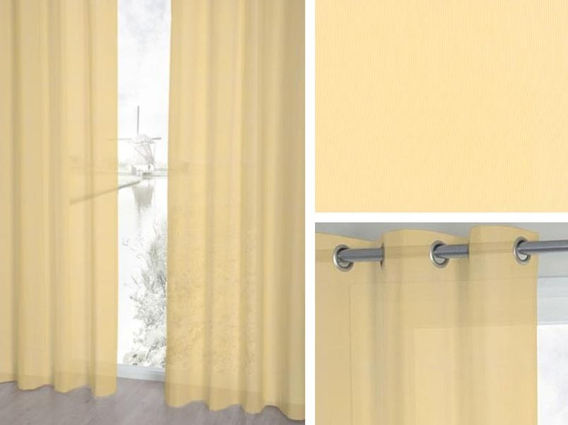 Vitrage Topcolor voile 74 vanille