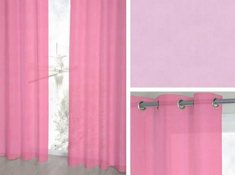 Vitrage Topcolor Voile 85 fuchsia | Roobol