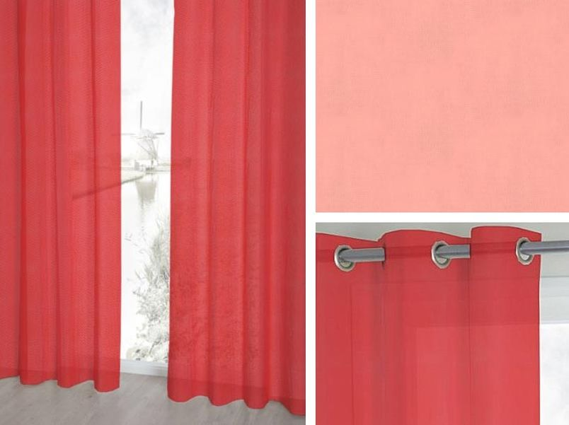 Vitrage Topcolor Voile tomaat
