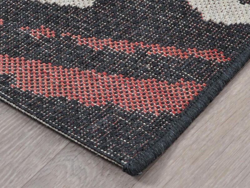 Vloerkleed Lodge black/red