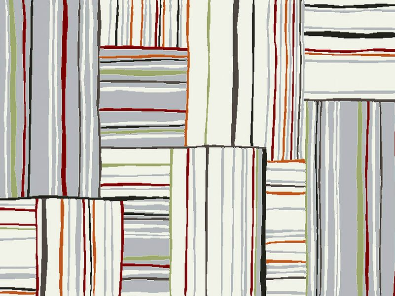 Vloerkleed Sevilla paper white stripe