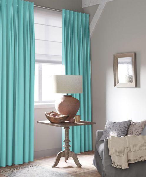 Gordijn Palette turquoise