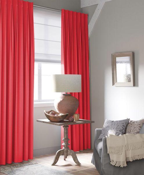 Gordijn Palette rood