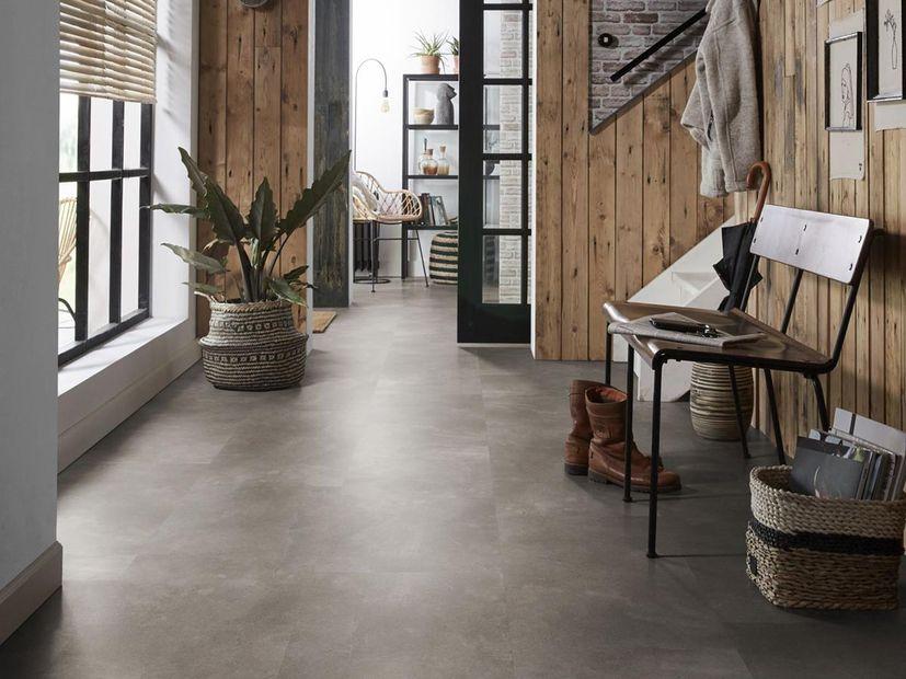 PVC vloer Plaza warm grey