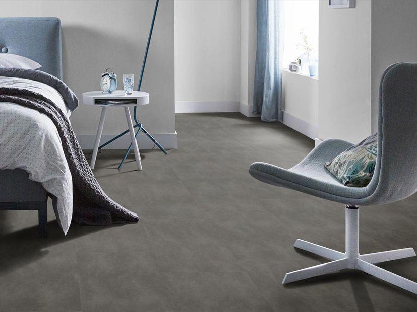 PVC vloer Concrete XL antracite mat