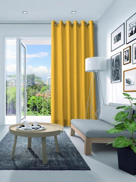Gordijn Elegance velours geel