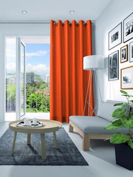 Gordijn Elegance velours oranje