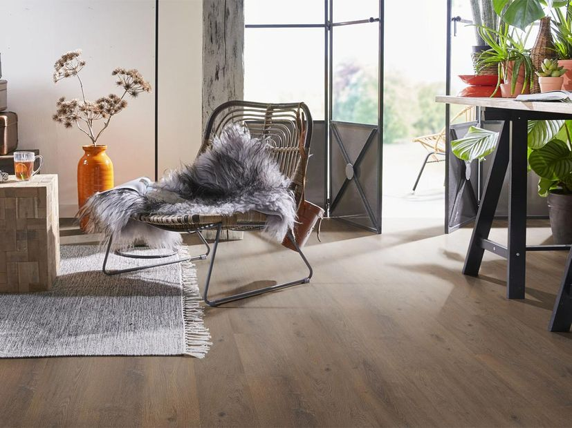 PVC vloer Ardeche click dark oak