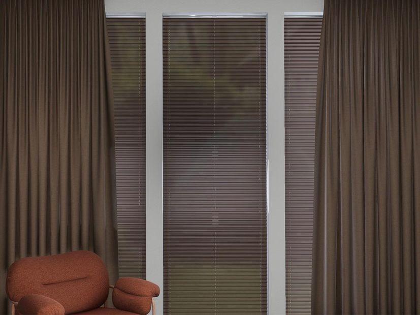 Plisségordijn R-line bruin
