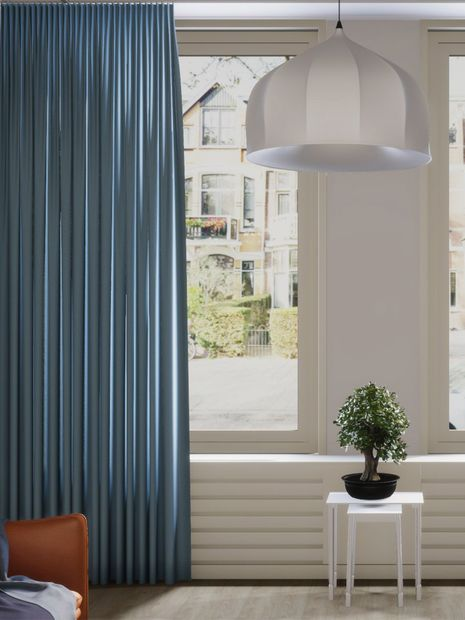 Gordijn Sunshade dim out lichtblauw
