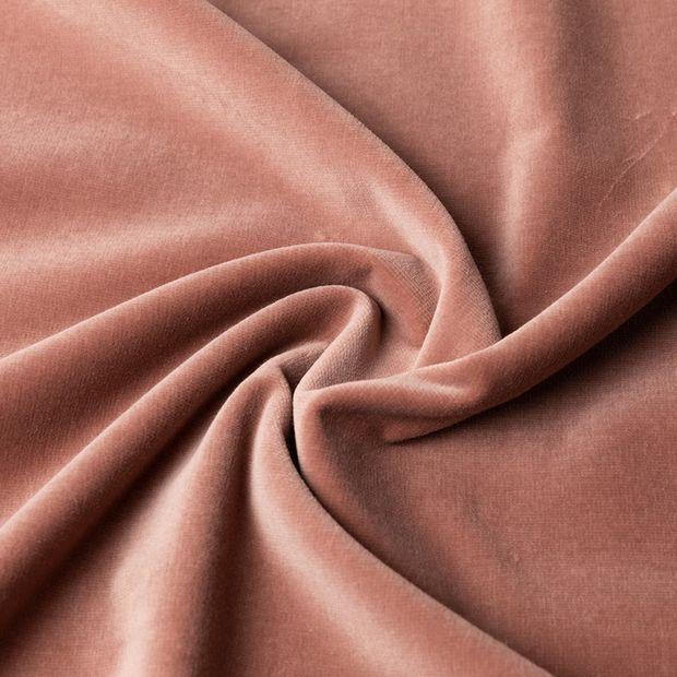 Gordijn Superior velours oud roze