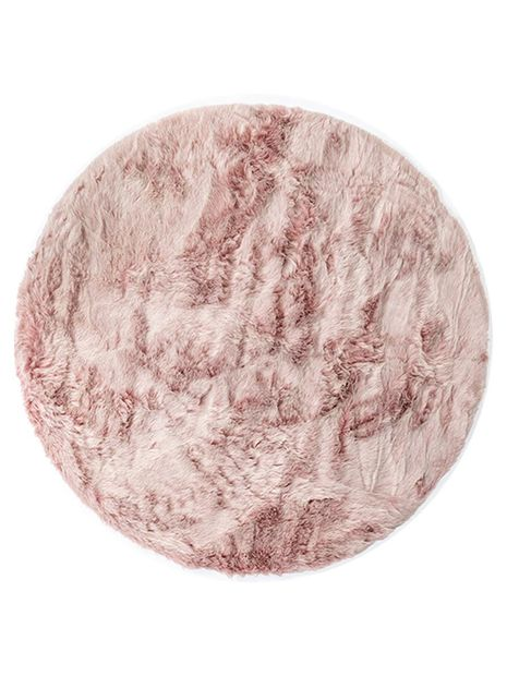 Vloerkleed Fox rond old pink
