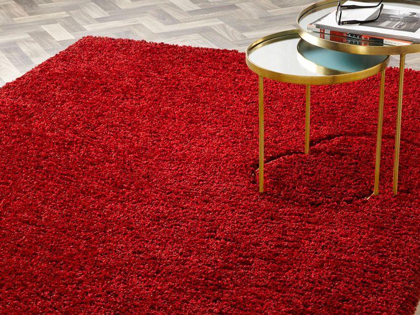 Vloerkleed Nouveau Shaggy rood