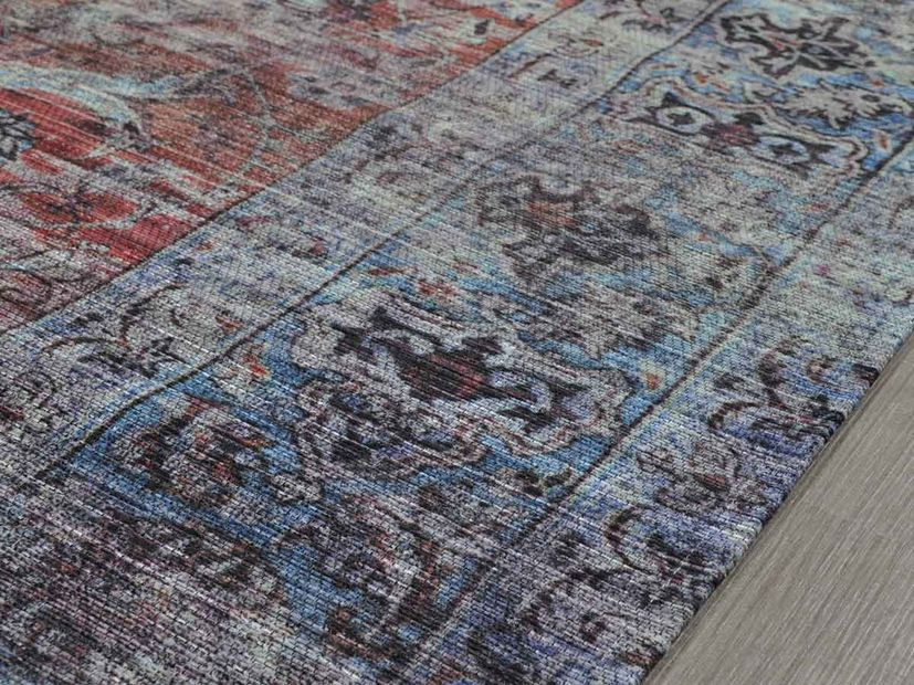 Vloerkleed Old Persian blauw rood