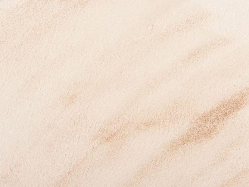 Vloerkleed Plush rond crème