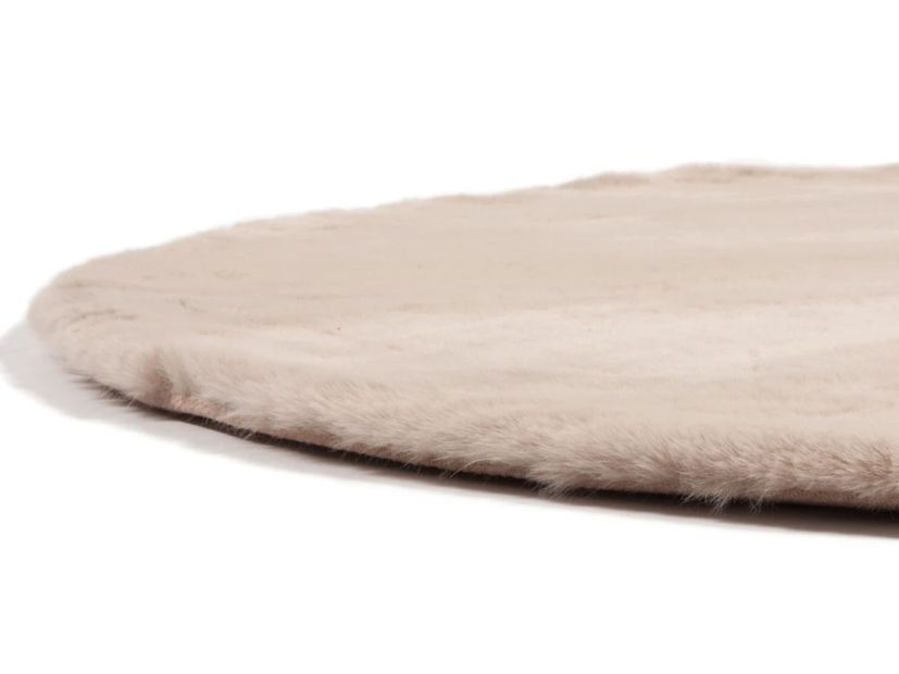Vloerkleed Plush rond beige