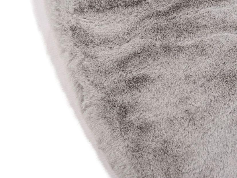 Vloerkleed Plush rond lichtgrijs
