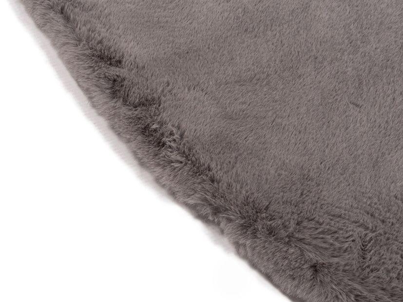 Vloerkleed Plush rond grijs