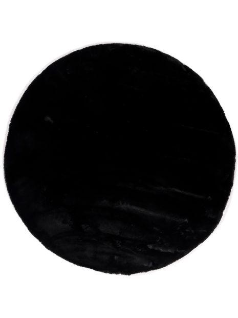 Vloerkleed Plush rond zwart