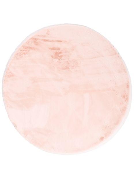 Vloerkleed Plush rond roze