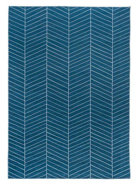 Vloerkleed Scandi denim blauw