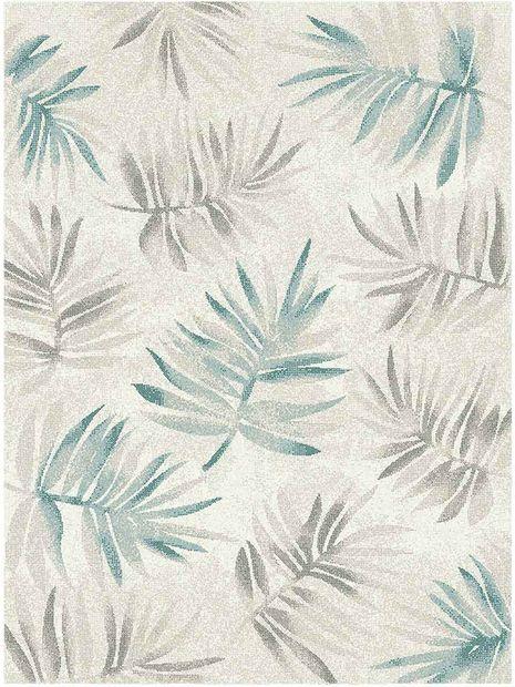 Vloerkleed Softness cream blue
