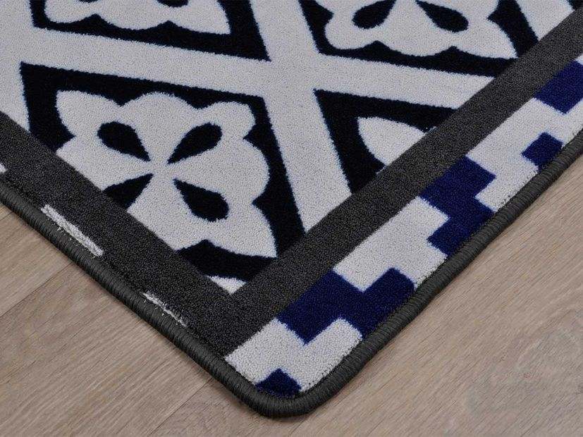 Vloerkleed Patch blue
