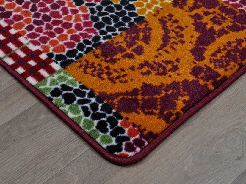 Vloerkleed Patch red lila