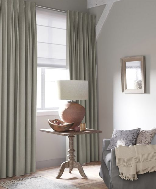 Gordijn Double Recycle taupe