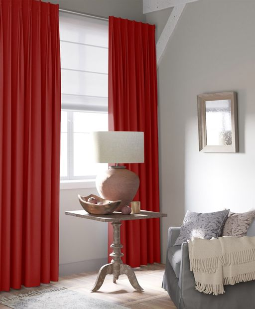 Gordijn Superior velours rood