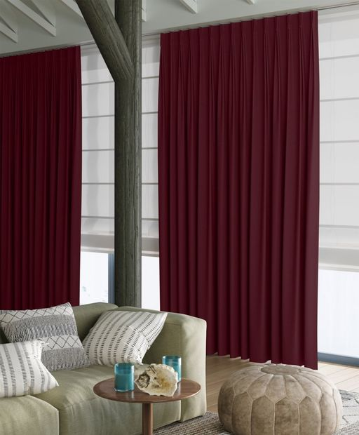 Gordijn Superior velours bordeaux