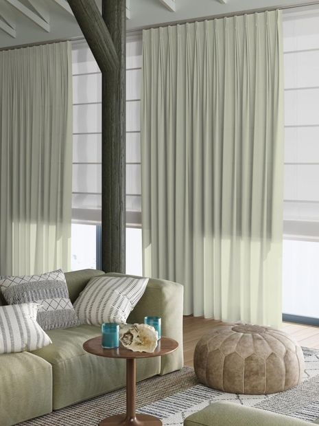 Vitrage Topcolor voile reseda