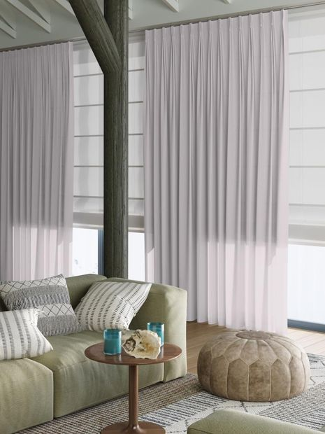 Vitrage Topcolor Voile orchidee
