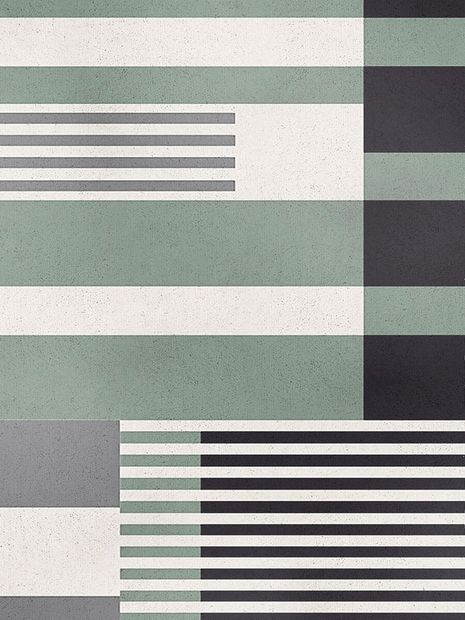 Vloerkleed Alaska groen striped