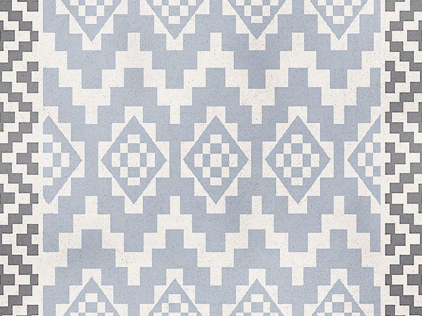 Vloerkleed Alaska blue aztec