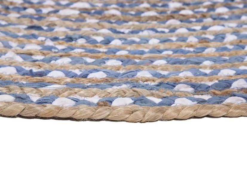 Vloerkleed Mainday blue & white