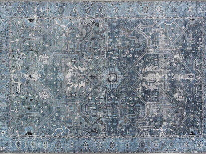 Vloerkleed Sari blue grey